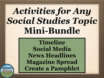 Social Studies Activities For Any Topic Mini Bundle