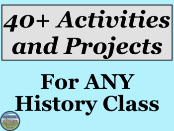Activities and Projects for ANY Social Studies Topic BUNDLE