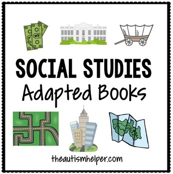 Social Studies Adapted Books {for special education}