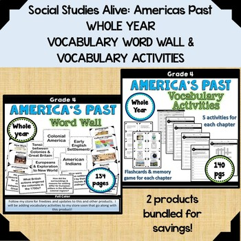 History Alive America Past Worksheets Teaching Resources TpT