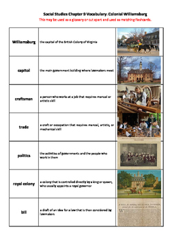 Social Studies Alive! America's Past Ch 9 Packet Life in Colonial Williamsburg