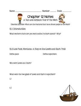 Social Studies Alive Ch. 12 & 13 Notes 4th Grade