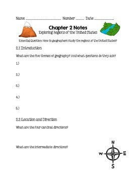 Social Studies Alive Ch. 2 Notes 4th Grade