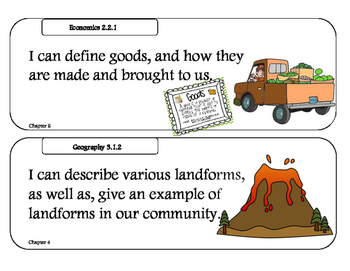 """Social Studies Alive! """"I can"""" Statements"""