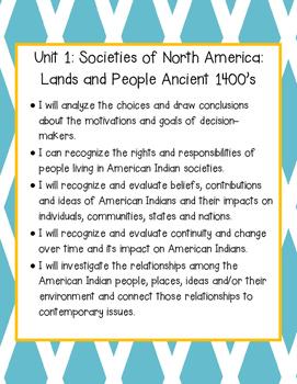 Social Studies Alive Learning Targets