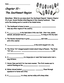 Social Studies Alive! Regions of Our Country Ch. 10 Scavenger Hunt
