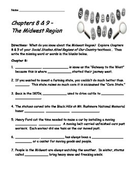 Social Studies Alive! Regions of Our Country Ch. 8 & 9 Scavenger Hunt