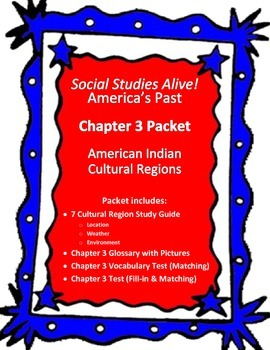 Social Studies Alive! America's Past Chapter 3 Study Guide Packet