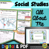Social Studies All About Me Pennant Distance Learning