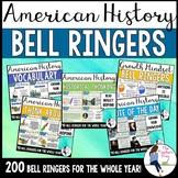 Social Studies American History 1 Bell Ringers Bundle (Google Slides Compatible)