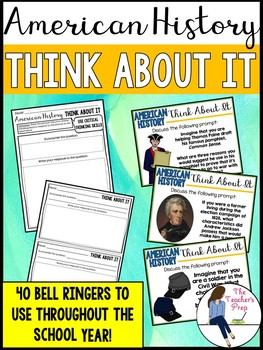 Social Studies American History Critical Thinking Bell Ringers
