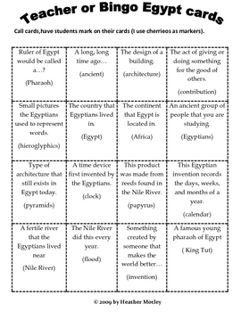 Social Studies: Ancient Egypt : Study Guide, Game & Assessment