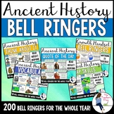 Social Studies Ancient History Bell Ringers Bundle (Google Slides Compatible)