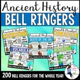 Social Studies Ancient History Bell Ringers Bundle (Google Slides Compatible)