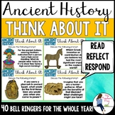 Social Studies Ancient History Critical Thinking Bell Ringers