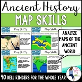 Social Studies Ancient History Map Skills Bell Ringers
