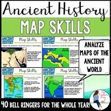 Social Studies Ancient History Map Skills Bell Ringers