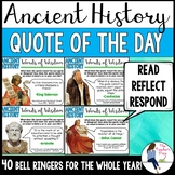 Social Studies Ancient History Quote of the Day Bell Ringers