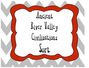 Social Studies Ancient River Valley Civilizations Card Sort