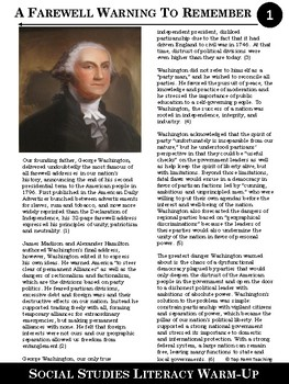 Social Studies Article #1--A Farewell Warning to Remember