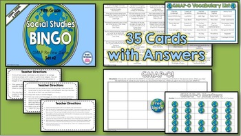 Social Studies BINGO - 5th Grade GMAP Review (Set 2 of 3)