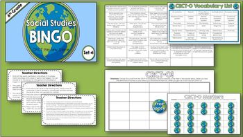 Social Studies BINGO - 6th Grade CRCT Review (Set 1 of 2)