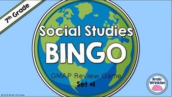 Social Studies BINGO - 7th Grade GMAP Review (Set 1 of 2)