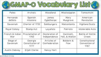 Social Studies BINGO - 8th Grade GMAP Review (Set 1 of 4)