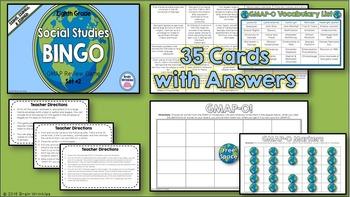 Social Studies BINGO - 8th Grade GMAP Review (Set 2 of 4)