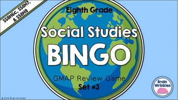 Social Studies BINGO - 8th Grade GMAP Review (Set 3 of 4)