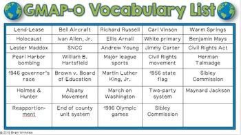 Social Studies BINGO - 8th Grade GMAP Review (Set 4 of 4)