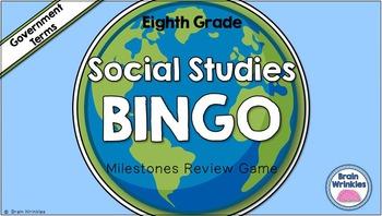 Social Studies BINGO - 8th Grade Government Milestones Review