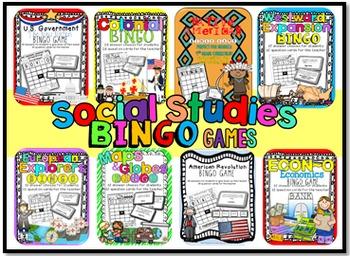 Social Studies Games: BINGO
