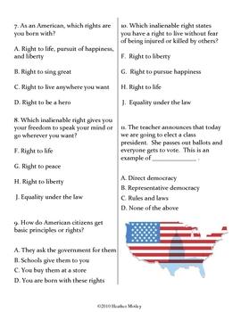 Social Studies: Basic Principles Assessment and Study Guide