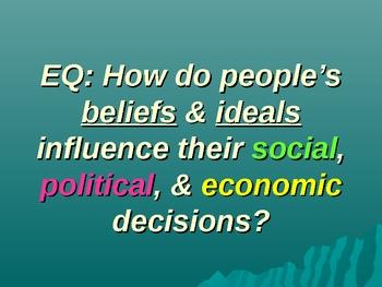 Social Studies: Beliefs and Ideals Affect our Decisions