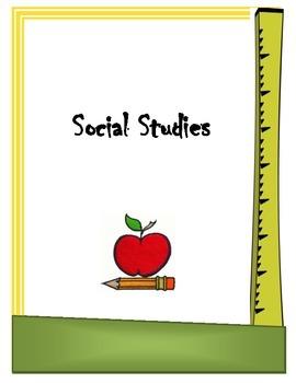 Social Studies Binder Cover Sheet
