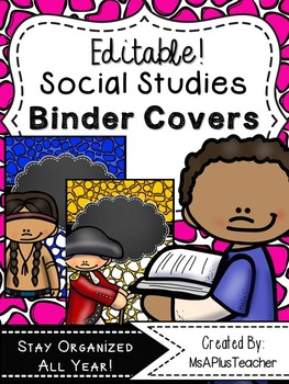 {Editable!} Social Studies Binder Covers