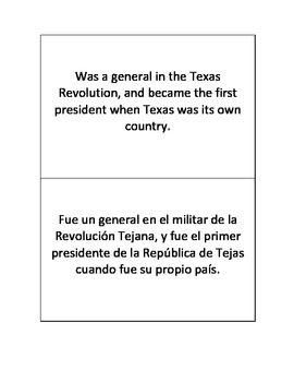 Social Studies Biography Cards - English and Spanish Matching