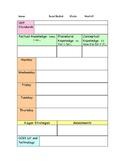 Social Studies Block Schedule Lesson Plan Template