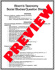 Bloom's Question Stems (Social Studies)