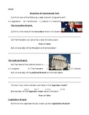 Social Studies Branches of Government Assessment Special E