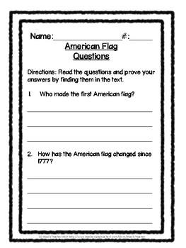 Social Studies Buddy Reading: American Flag