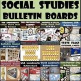 Social Studies Bulletin Boards 12-Pack Bundle