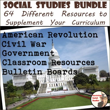 Social Studies Bundle - 64 Resources for Middle School Social Studies