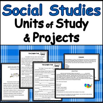 Social Studies Units for Grades 3-4