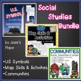 Social Studies Bundle Maps, Communities & US Symbols