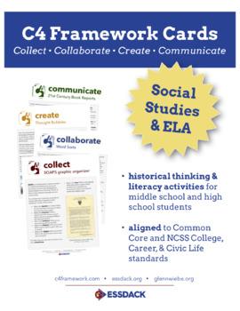 Social Studies C4 Cards (Create Set 1): Historical Thinking / Literacy Skills