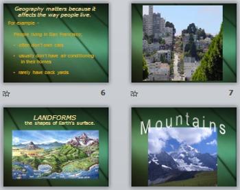 Social Studies -California Landforms