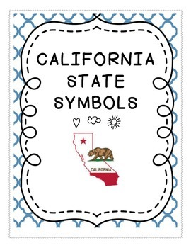 Social Studies : California State Symbols Unit and County Postcard Contest