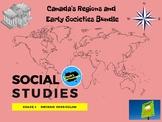 Social Studies - Canada's Regions and Early Societies Bundle - Grade 4